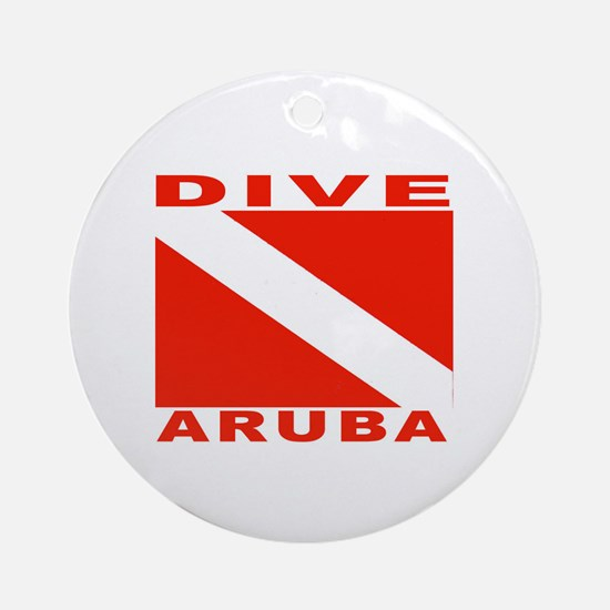 Dive Aruba Ornament (Round)