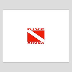 Dive Aruba Small Poster