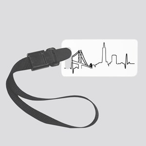San Francisco Heartbeat Small Luggage Tag