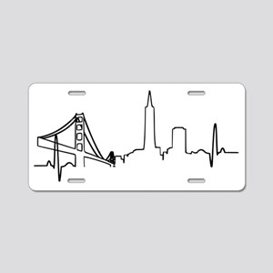 San Francisco Heartbeat Aluminum License Plate