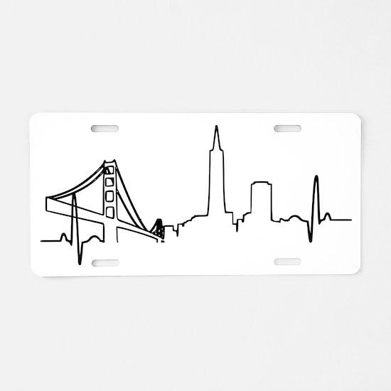 San Francisco Heartbeat Aluminum License Plate