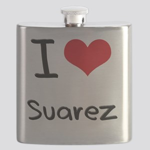 I Love Suarez Flask