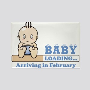 Arriving in February Rectangle Magnet