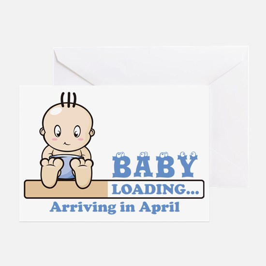 Arriving in April Greeting Card