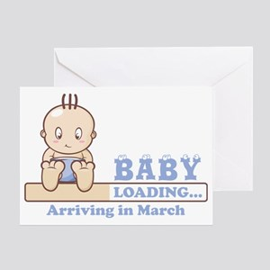 Arriving in March Greeting Card