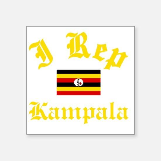 "I Rep Kampala capital Desig Square Sticker 3"" x 3"""