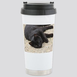 cat Stainless Steel Travel Mug