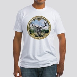 Elkaholic elk hunting logo Fitted T-Shirt