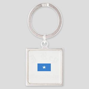 I Rep Mogadishu capital Designs Square Keychain