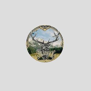 Elkaholic elk hunting logo Mini Button