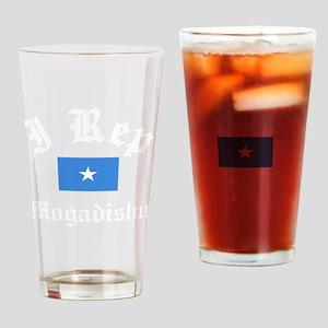 I Rep Mogadishu capital Designs Drinking Glass