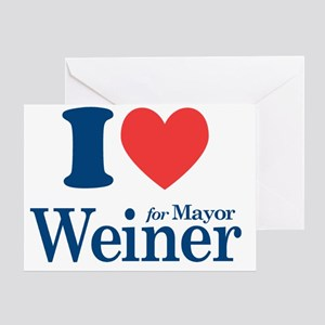 I Love Weiner Greeting Card
