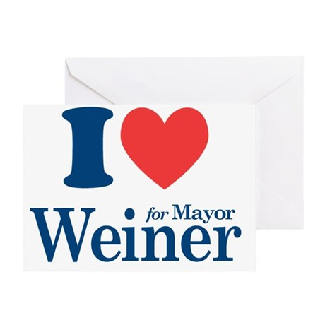 I Love Weiner Greeting Card