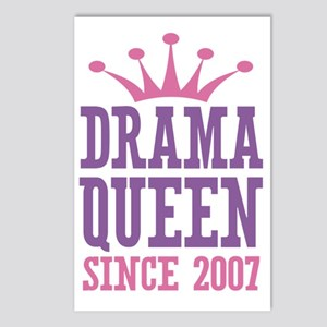 Drama Queen Since 2007 Postcards (Package of 8)