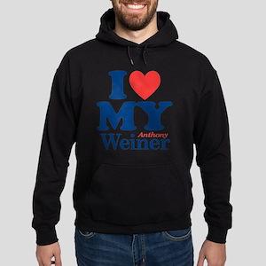 I Love My Weiner Hoodie (dark)