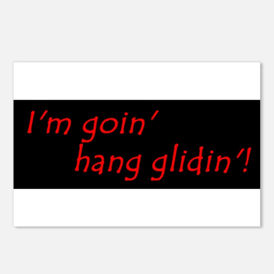 Im Goin Hang Glidin Postcards (Package of 8)
