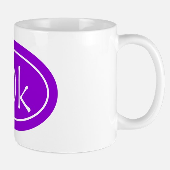 Purple 10k Oval Mug