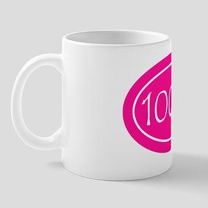 Pink 100 mi Oval Mug