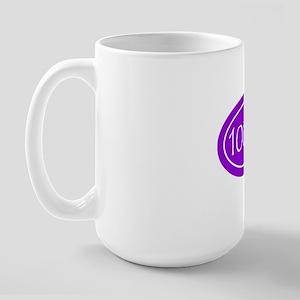 Purple 100 mi Oval Large Mug