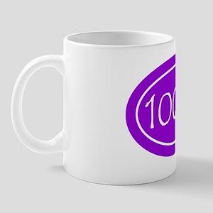 Purple 100 mi Oval Mug