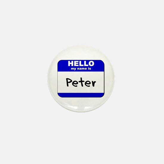 hello my name is peter Mini Button