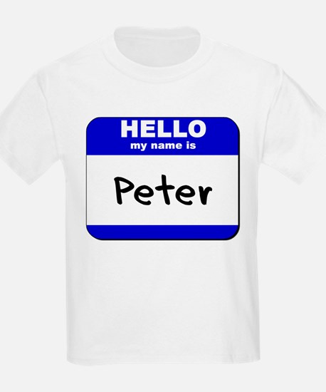 hello my name is peter T-Shirt