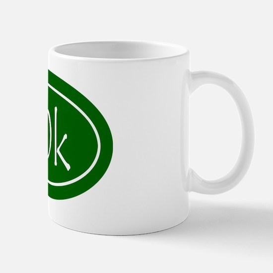 Green 50k Oval Mug