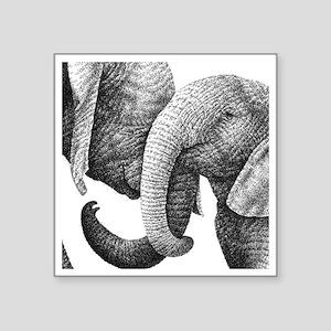 "African Elephants 60 inch C Square Sticker 3"" x 3"""