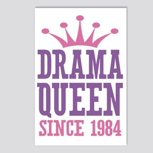 Drama Queen Since 1984 Postcards (Package of 8)