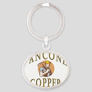 d'Anconia Copper Retro Miner Oval Keychain