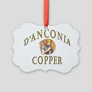 d'Anconia Copper Retro Miner Picture Ornament