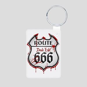 Route 666 Aluminum Photo Keychain