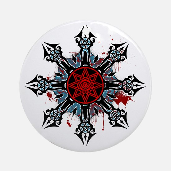 Cross of Chaos Round Ornament