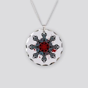 Cross of Chaos Necklace Circle Charm