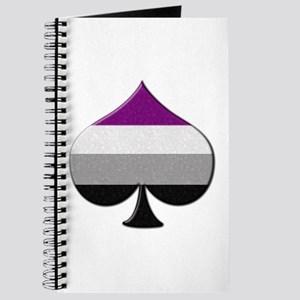 Spade Symbol - Asexual Pride Flag Journal