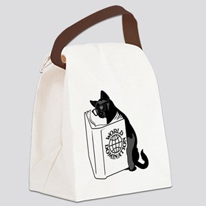 Cat World Domination Canvas Lunch Bag