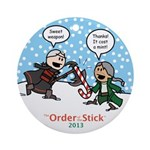 2013 Order Of The Stick Holiday Round Ornament