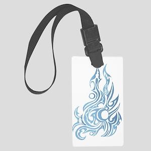Burning Cold Large Luggage Tag
