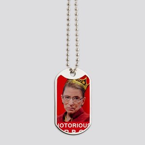 Notorious RBG Poster Dog Tags