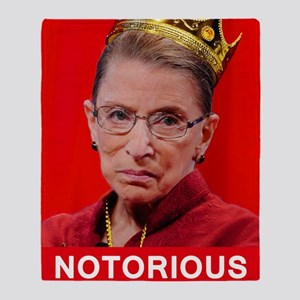Notorious RBG Poster Throw Blanket