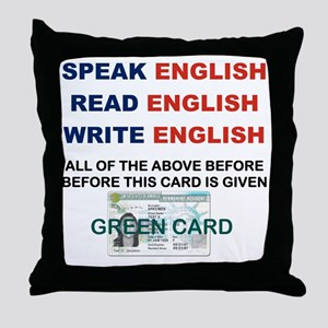 SPEAK ENGLISH READ ENGLISH WRITE ENGL Throw Pillow