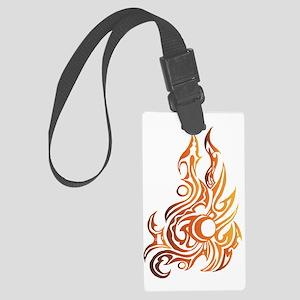 Burning Up Large Luggage Tag