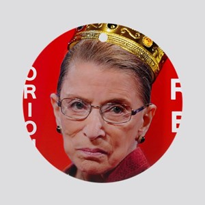 Notorious RBG Small Square Round Ornament