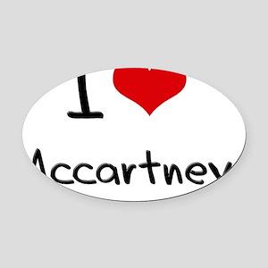 I Love Mccartney Oval Car Magnet