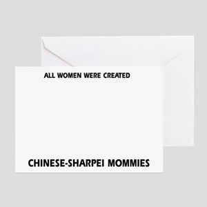 Chinese Sharpei Mommies Designs Greeting Card