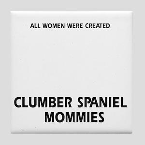 Clumber Spaniel Mommies Designs Tile Coaster