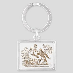Regency Couple Landscape Keychain