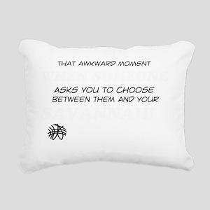 Cool Savannah Cat Design Rectangular Canvas Pillow