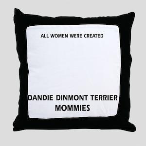 Dandie Dinmont Terrier Mommies Design Throw Pillow