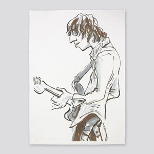Base Guitarist. 5'x7'Area Rug